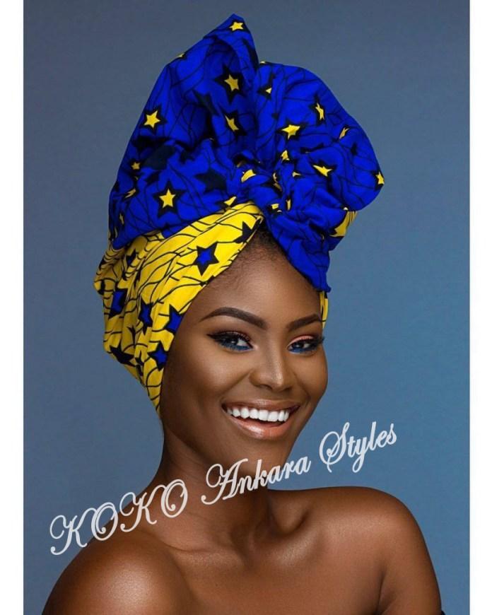 Ankara Styles: Five Eccentric Ankara Headwraps That Are Fashionable And Chic 3