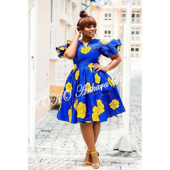 Ten Ankara Styles That Proves That Skater Dresses Are Still As Cool As Ever 8