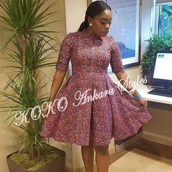 Ten Ankara Styles That Proves That Skater Dresses Are Still As Cool As Ever 7