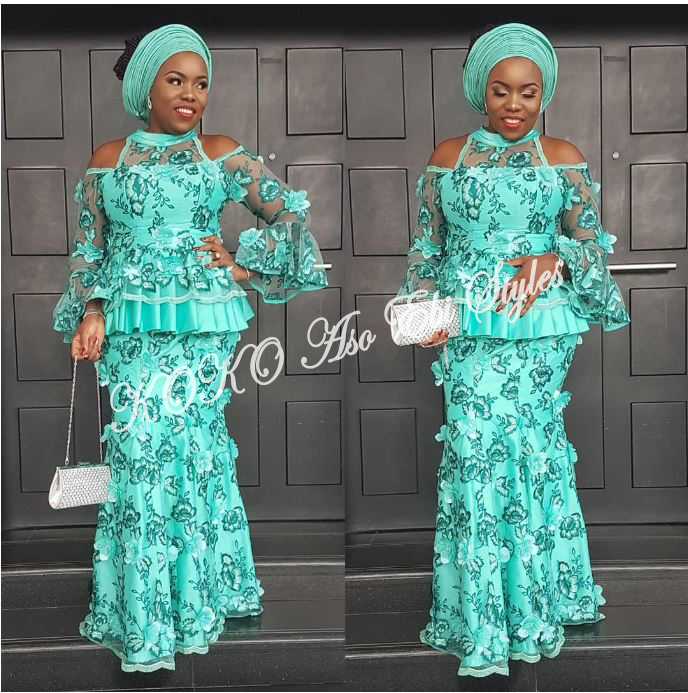 Five Sea-green Aso-ebi Styles That Are Too Gorgeous To Ignore 1
