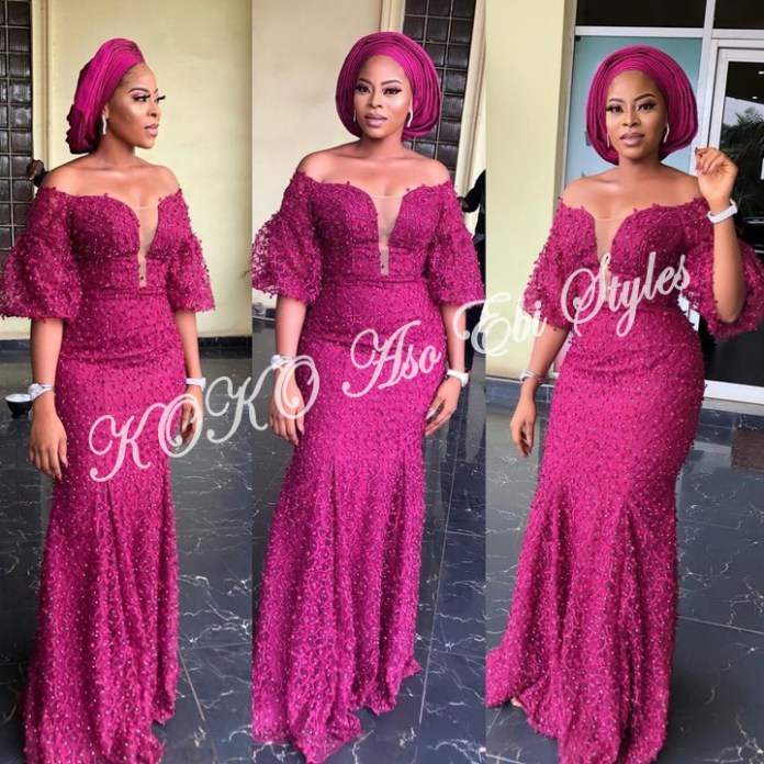 These Five Aso-ebi Styles Showcases The Eccentric Beauty Of Mermaid Gowns 4