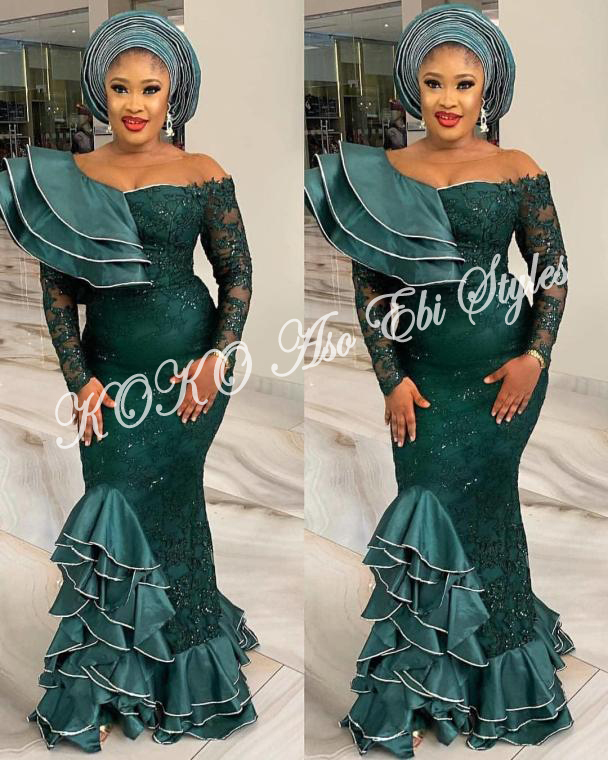 These Five Aso-ebi Styles Showcases The Eccentric Beauty Of Mermaid Gowns 1