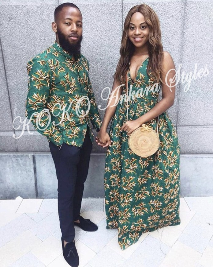 Couple It Up In These 10 Extremely Gorgeous Co-ordinating Ankara Styles 1