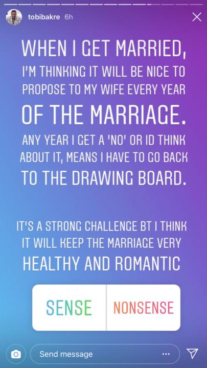 I Will Propose To My Wife Everyday- Tobi Bakri 3