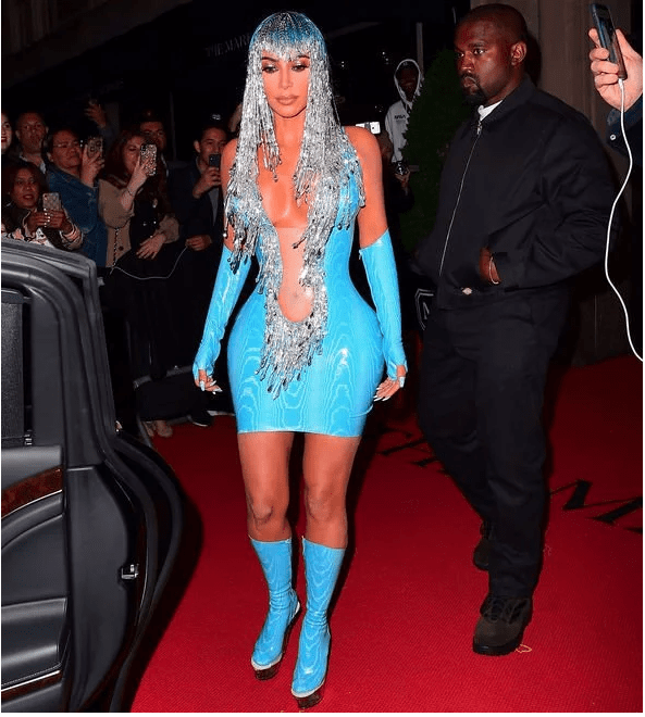Real Life Barbie! Check Out Kim Kardashian's Met Gala After Party Latex Dress That Everyone Is Talking About 4