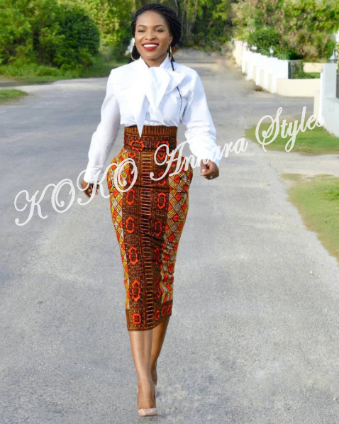 Weekday Glam! Five Ankara Styles You Can Rock To Work 3