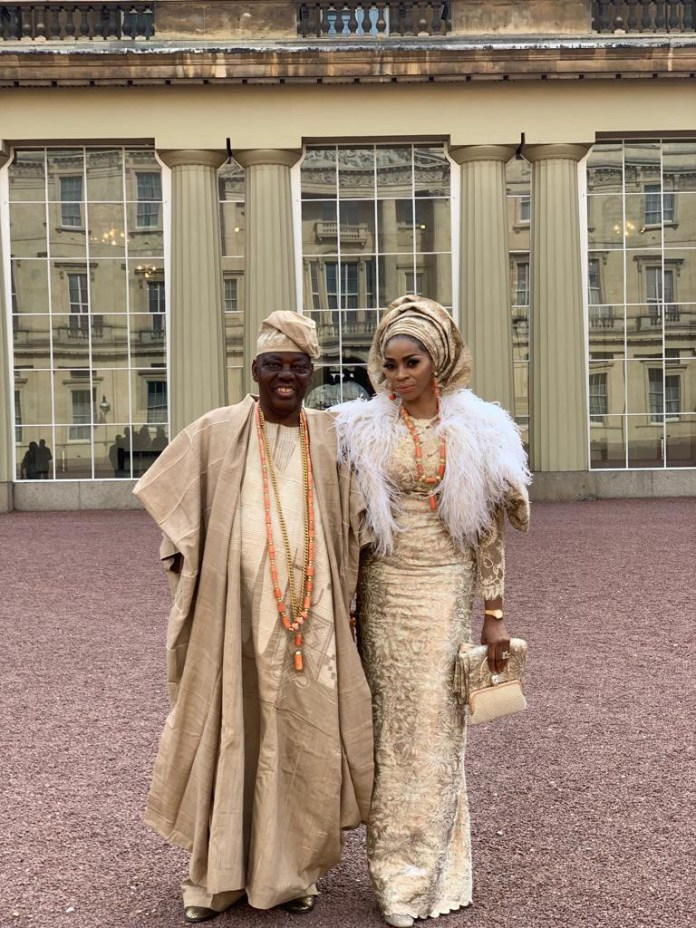 Billionaire Couple Rasaq And Shade Okoya Attends Queen Of England's Garden Party At Buckingham Palace 1