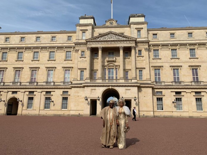 Billionaire Couple Rasaq And Shade Okoya Attends Queen Of England's Garden Party At Buckingham Palace 2