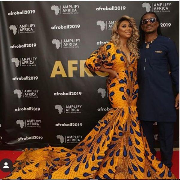 When Love Meets Fashion! Tamar Braxton Stuns In Mermaid Ankara Style As She Steps Out With her Nigerian Beau 1