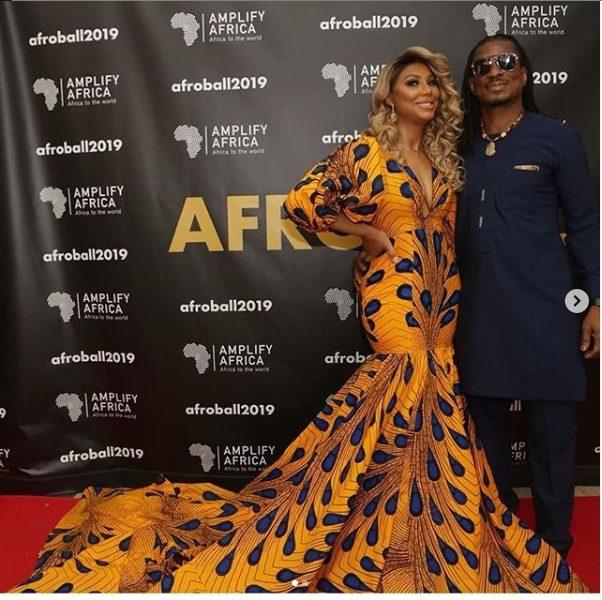 When Love Meets Fashion! Tamar Braxton Stuns In Mermaid Ankara Style As She Steps Out With her Nigerian Beau 5