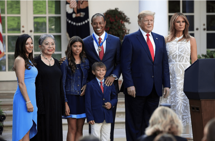 'One Of The Greatest Athletes'- Trump Praises Tiger Woods As He Awards Him The Medal Of Freedom 1