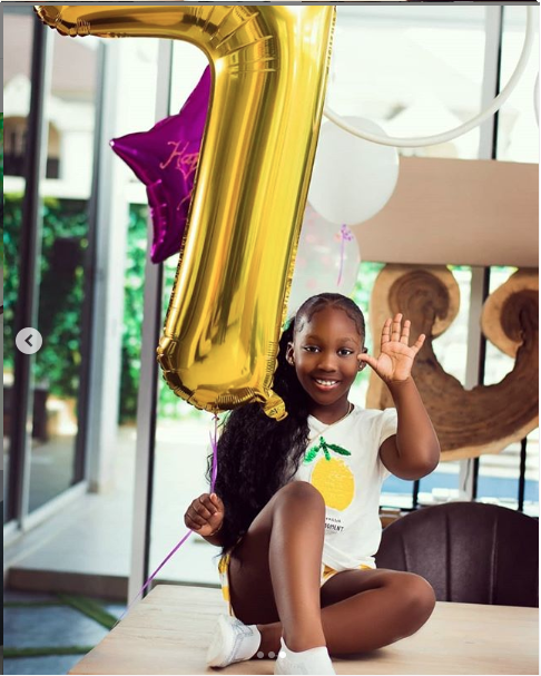 KOKO Junior: See Cute Photos Of Timaya's Daughter, Emma As She Celebrates Her 7th Birthday 1