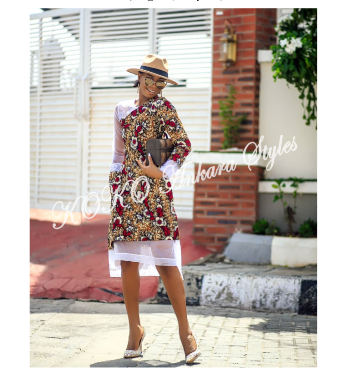 KOKOnista Spotlight: Angel Obasi Looks Extremely Stunning In These Five Beautiful Ankara Designs 5