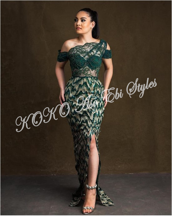 Bring On The Stunning In Lovely Green Aso-ebi Designs At Your Next Owanbe 9