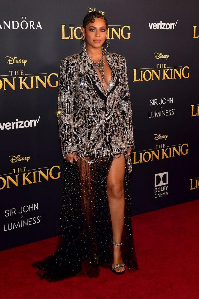 Beyonce And Blue Ivy Dominate Lion King World Premiere In Sparkling Co-ordinating Outfits 2