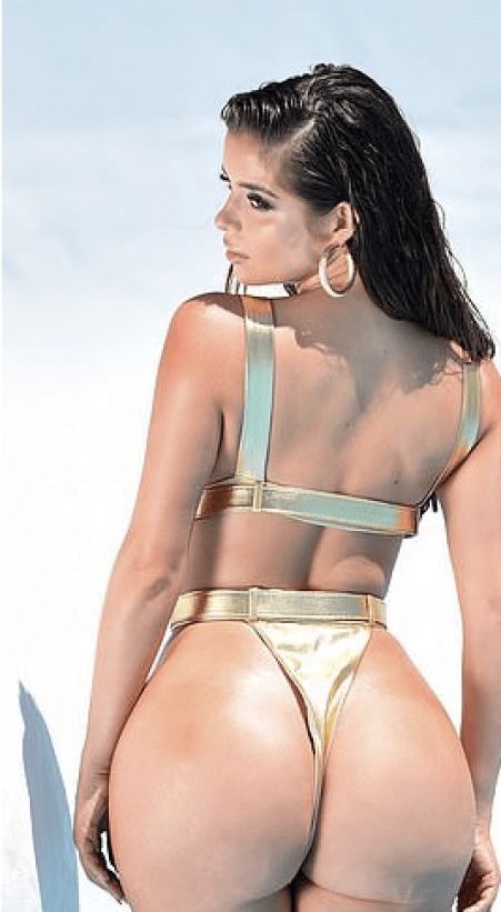 Demi Rose Is Dripping In Gold As She Flaunts Her Enviable Backside And Cleavage 1