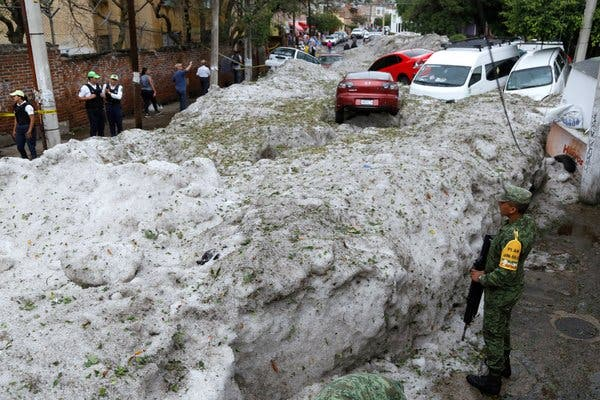 'Biblical' Hailstorm Buries House, Cars And Turns Streets Into Rivers In Mexico 1