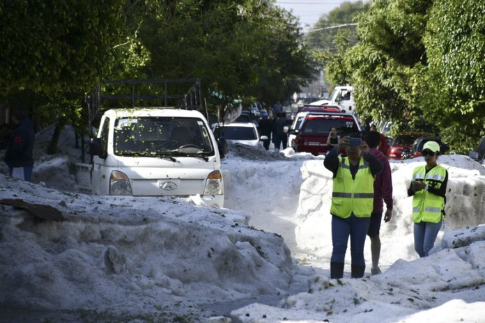 'Biblical' Hailstorm Buries House, Cars And Turns Streets Into Rivers In Mexico 2