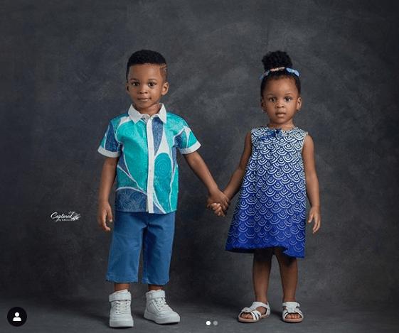 KOKO Junior: Nathan And Nadia Okoye Are The Adorable Twins As They Turn 2 2