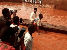 Eventuarry! Canoe Is The New Vehicle In Sokoto After Heavy Rainfall