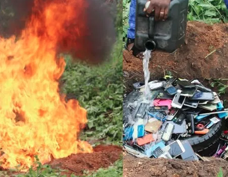 The Polytechnic Ibadan Burns Students' Phone Over Examination Malpractice