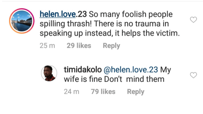 'My Wife Is Fine'- Timi Dakolo Denies Reports That Busola Was Traumatised After She Shared Her Rape Story 2