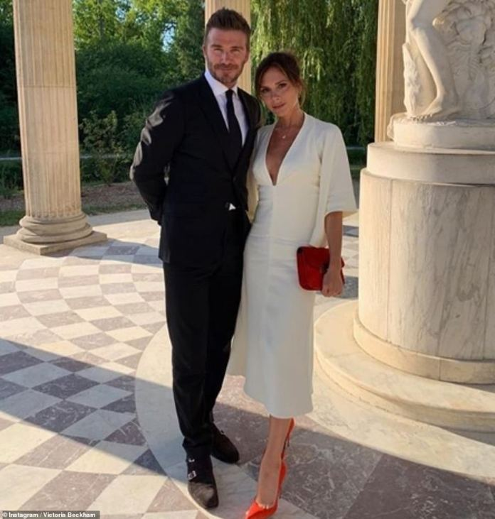Victoria Beckham Tours Palace Of Versailles In A White Midi-dress As She Celebrates 20 Years Wedding Anniversary With Hubby, David Beckham 1