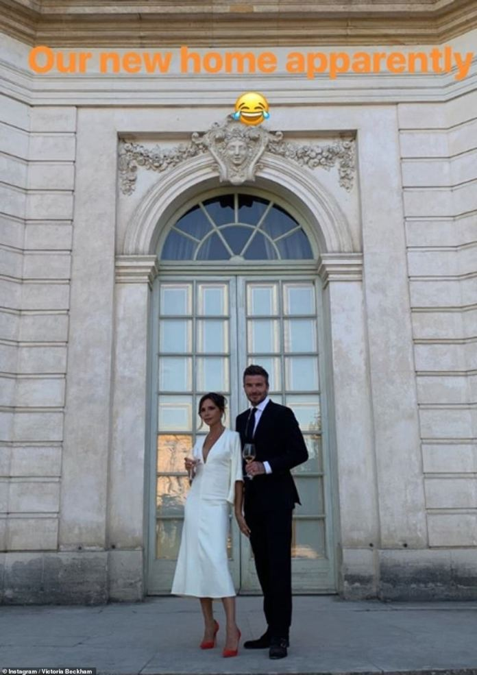Victoria Beckham Tours Palace Of Versailles In A White Midi-dress As She Celebrates 20 Years Wedding Anniversary With Hubby, David Beckham 5