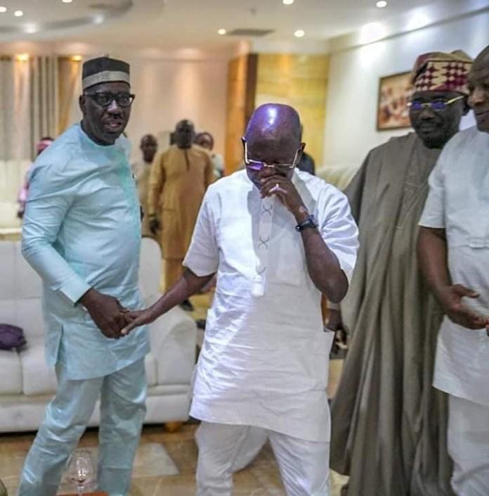 Governor Godwin Obaseki And Adams Oshiomhole Reconcile In Edo 3