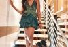 Wulala! Sharon Ooja Egwurube Is A Stunning Princess In Emerald Green Micro Mini Gown