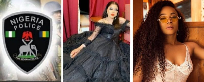 Image result for images of Toke Makinwa and Bobrisky