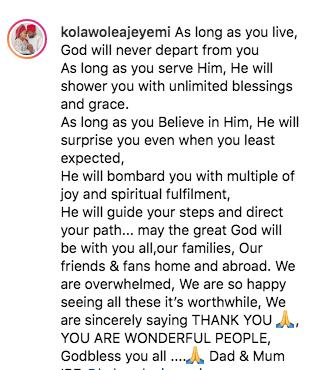 Toyin Abraham Gushes About Husband, Kolawole Ajeyemi