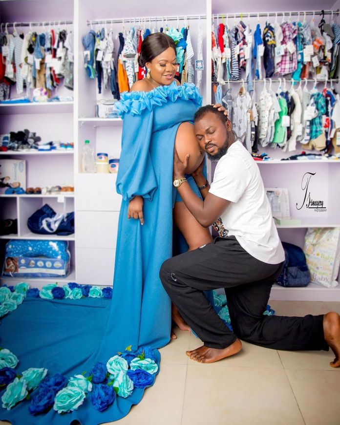 Toyin Abraham's Husband Kolawole Ajeyemi Shares More Maternity Pictures KOKOTV.NG