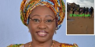 Erelu Bisi Fayemi Narrowly Escapes Death As FUOYE Students Attack Convoy