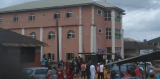 Gbege! Bride Collapses After Groom's Ex Showed Up In Church