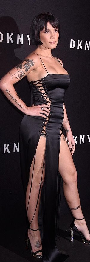 Halsey Wows In A Racy Black Lace Dress At NYFW 3