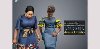 Ankara Styles: Prove You Are The Blending Queen With These Ankara-Jeans Combo