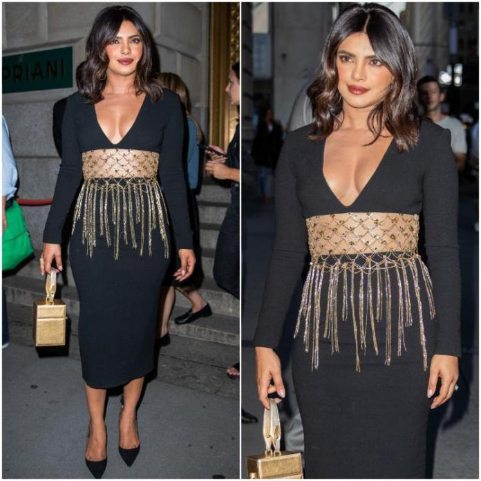 Busty Priyanka Chopra Sizzles In Oscar De La Renta At NYFW 3