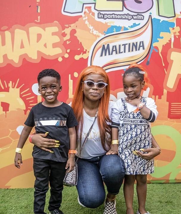 Cuties! Davido's Daughter, Imade Adeleke And Tiwa Savage's Son Jamil Are So Adorable 2
