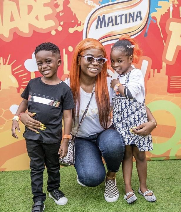 Cuties! Davido's Daughter, Imade Adeleke And Tiwa Savage's Son Jamil Are So Adorable 4