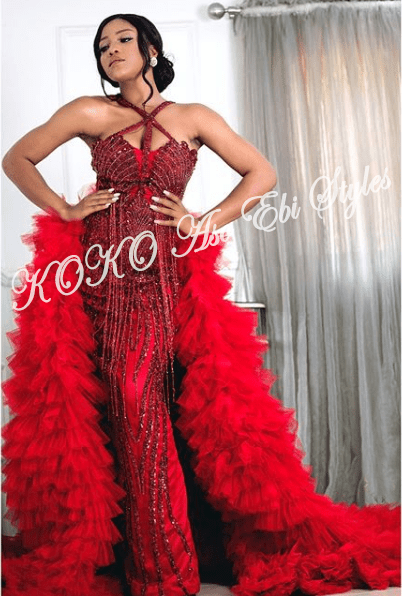 5 Celebrities That Gave Us Fab And Lit Aso-Ebi Style Over The Weekend 8