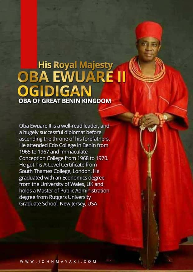 Tweeps Celebrate Oba Of Benin On His 3rd Anniversary