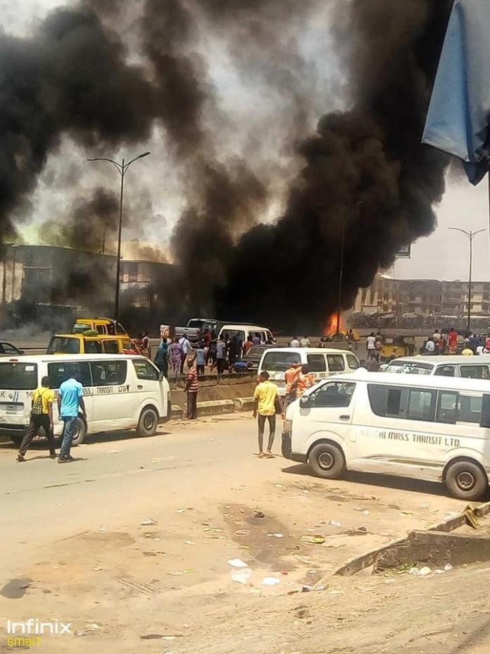 PrayForOnitsha: Ochanja Market Still On Fire - Eyewitness