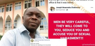 #SexForGrades: UNN Lecturer Apologises For Saying BBC Africa's Documentary Comment