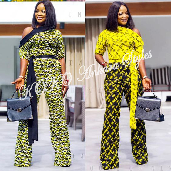 Jump On The Power Of These Ankara Jumpsuits To Flaunt Your Backside 2