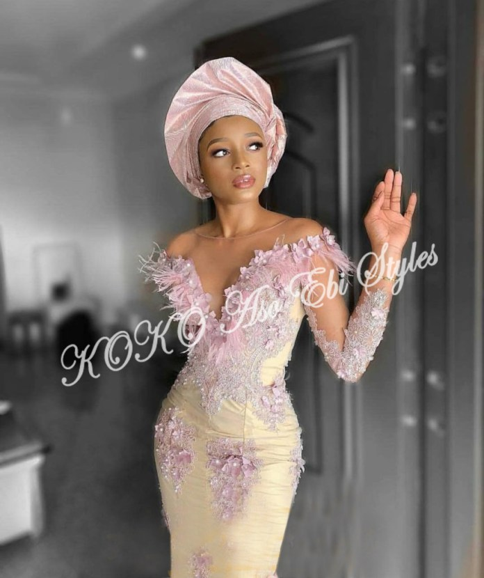 Make Bespoke Aso Ebi Styles Statement With The Powers Of The Skin Lace 3