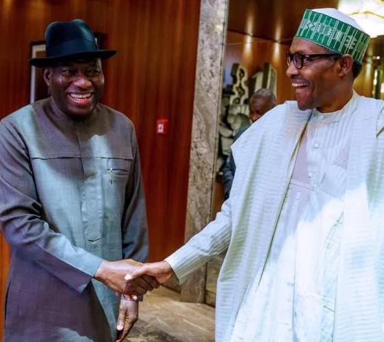 Goodluck Jonathan and Buhari