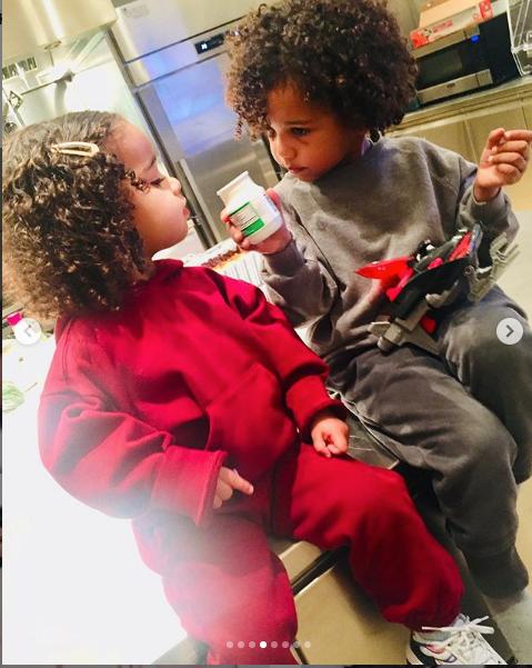 Kim Kardashian Shares Cute Snaps Of Dream Bonding With Her Children