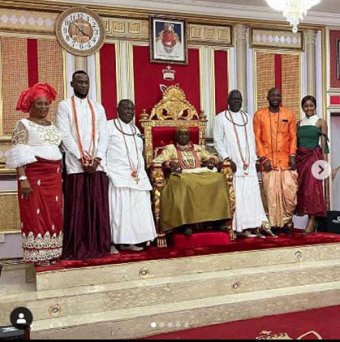 BBNaija Omoshola, Tuoyo And KimOprah Storm Delta, Olu Of Warri's Palace