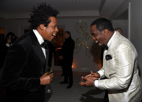 Friends Again! Kanye West And Jay Z Reunites At Diddy's 50th Birthday Party 3